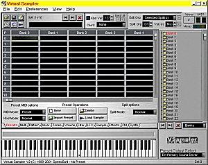 Virtual Sampler Screen